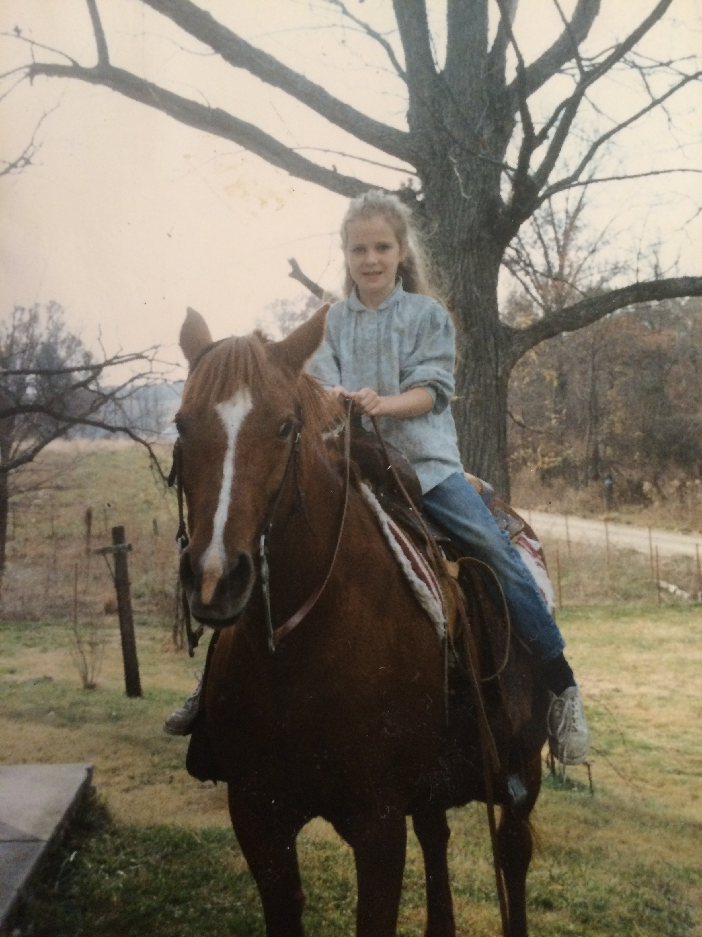 Me with our horse, Wendy. I Was almost 10 here.